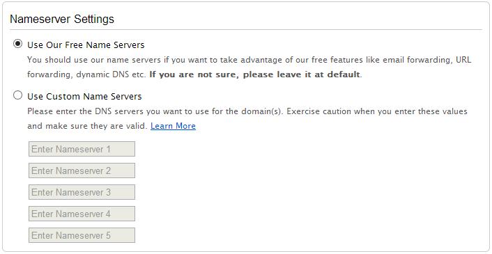 Namecheap - options Nameserver