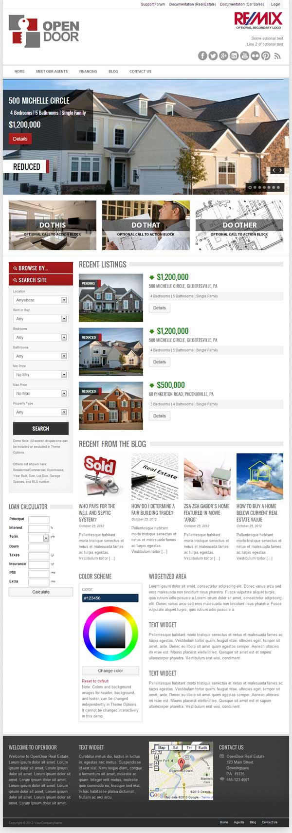 OpenDoor- theme wordpress immobilier