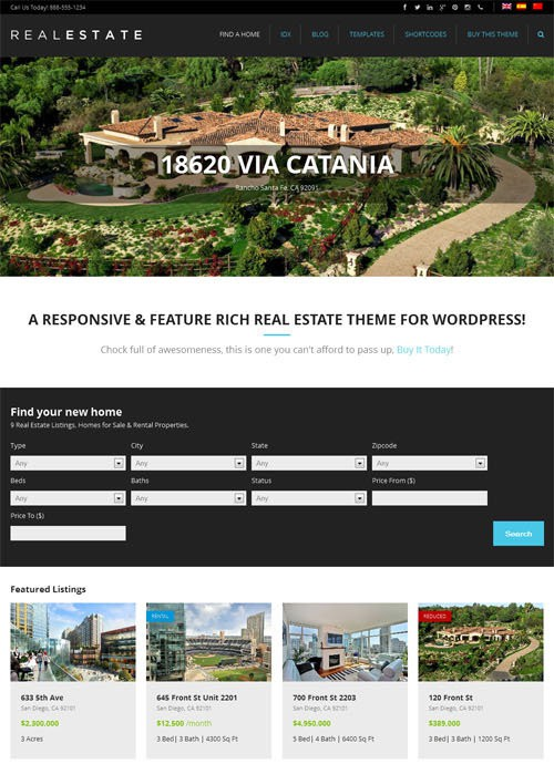 WP Pro Real Estate 5 - theme wordpress immobilier