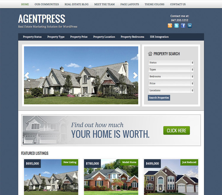 AgentPress - theme wordpress immobilier