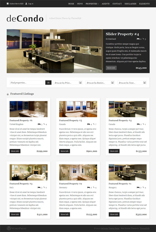 deCondo - theme wordpress immobilier