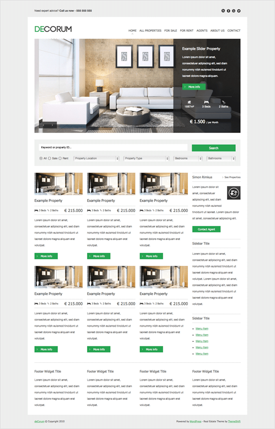 DeCorum - theme wordpress immobilier