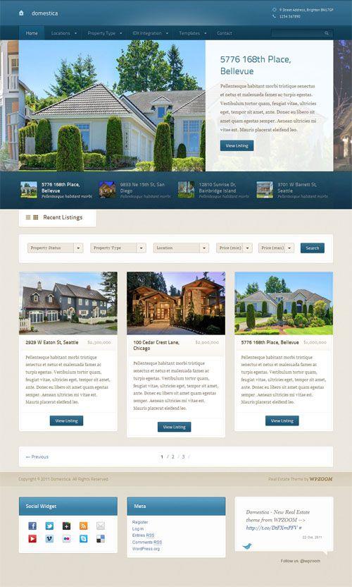 Domestica - theme wordpress immobilier