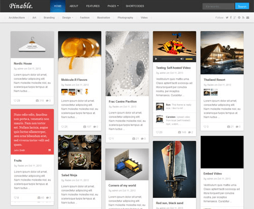 pinable - theme wordpress