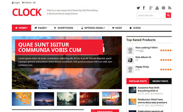 Theme WordPress Responsive Magazine WooCommerce - Clock
