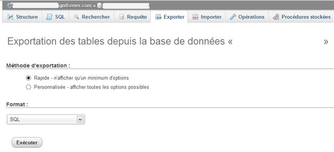 exporter base de données wordpress