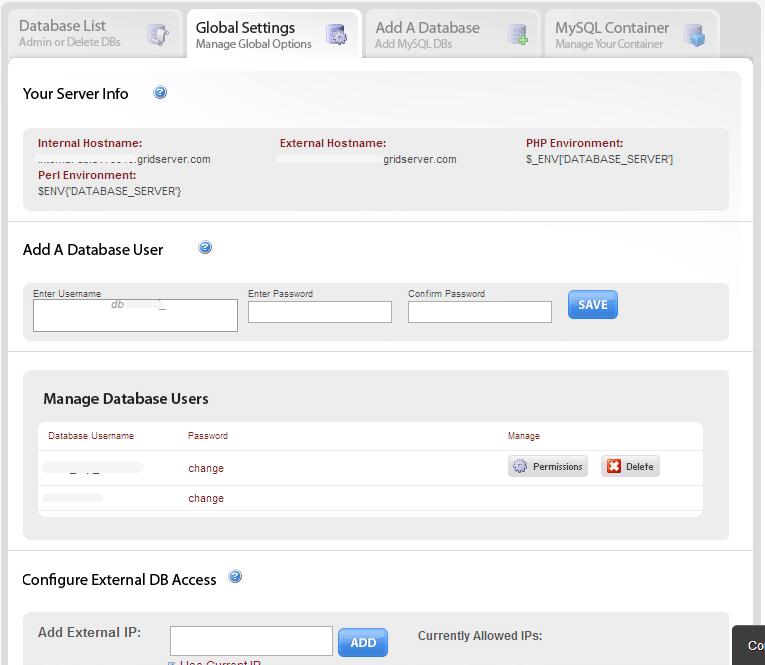 mediatemple - Créer un utilisateur de base de données