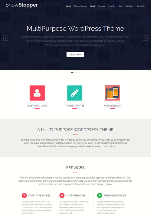 showstopper - theme wordpress