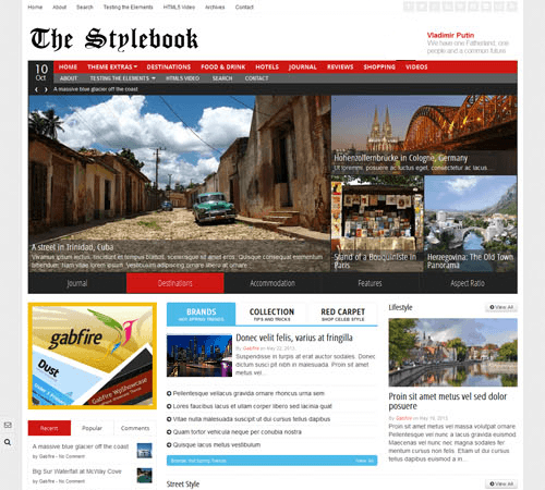 stylebook - theme wordpress