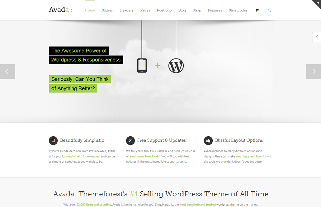 theme WordPress responsive - Avada