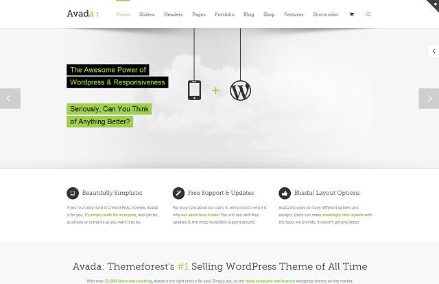 theme WordPress responsive - Avada
