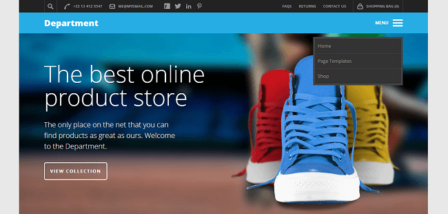Theme WordPress Reponsive Ecommerce et Business