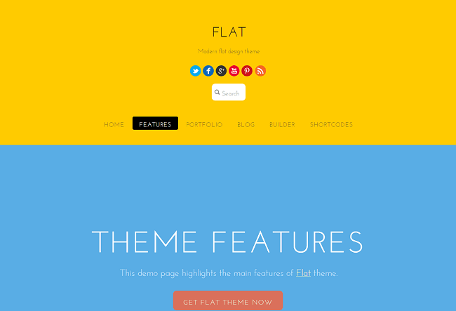 Theme WordPress Responsive Flat