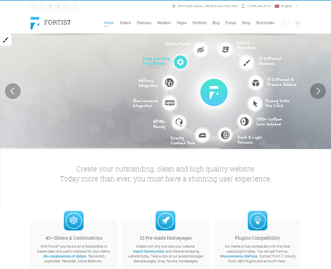 Theme WordPress Responsive Multi Purpose Business WooCommerce Portfolio