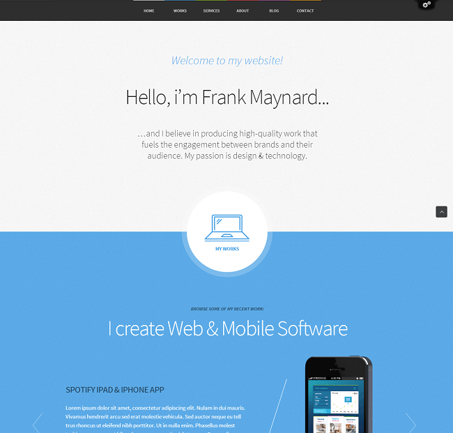 Theme WordPress Responsive One Page - Freelancer