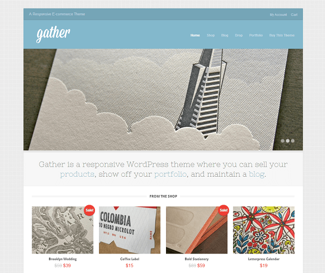 Theme WordPress Responsive - Gather