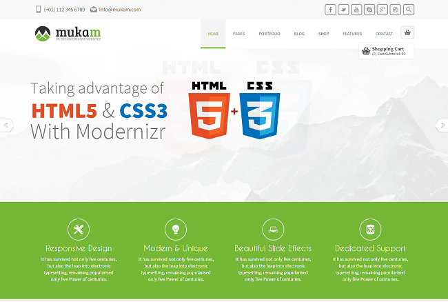 Theme WordPress Responsive Multipurpose - Mukam