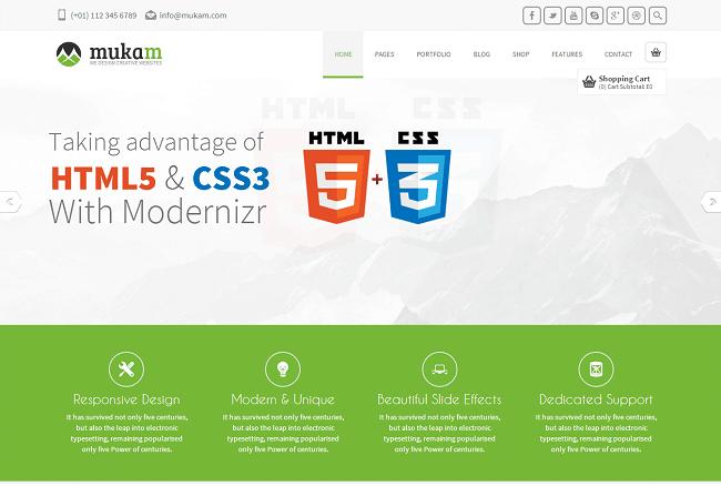 Theme WordPress Responsive Multipurpose - Mukam