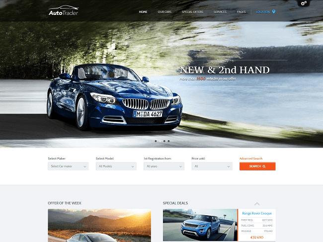 Theme WordPress pour Concessionnaire Automobile Voitures - AutoTrader