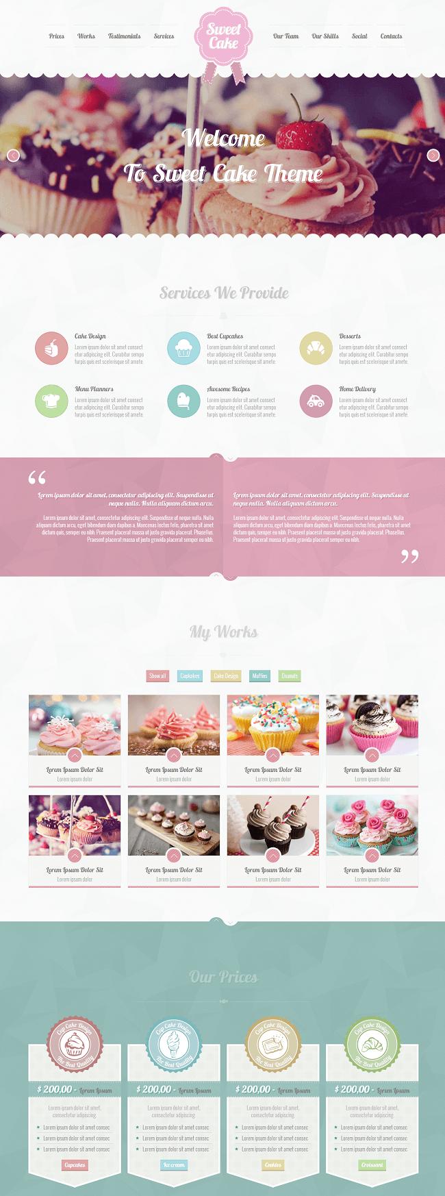 Sweet Cake - Thème WordPress pour créer un site de recettes de cuisine