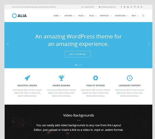 Theme WordPress Business pour Créer le Site de votre Entreprise - Alia