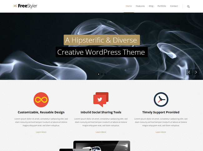 Theme WordPress Business Creative - FreeStyler