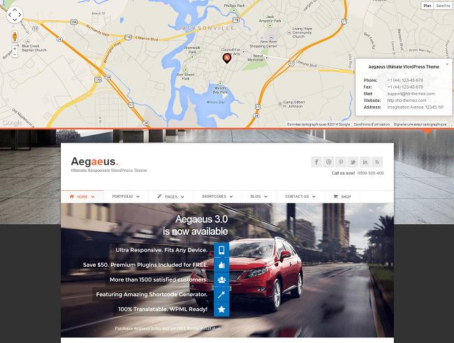Theme WordPress Business pour Entreprises - Aegaeus