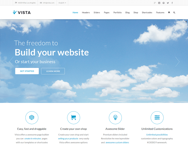 Theme WordPress pour Entreprises Multipurpose - Vista