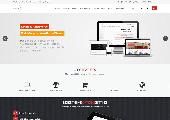 Theme WordPress Business Multipurpose pour Entreprise - MX