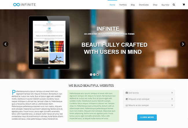 Theme WordPress Business Retina - Infinite