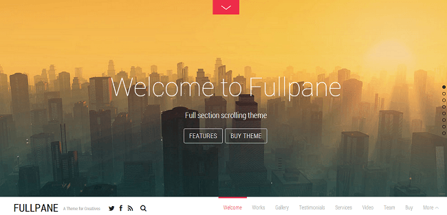 Theme WordPress Business Parallax - Fullpane