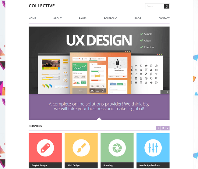 Theme WordPress Business pour les Professionnels - Collective