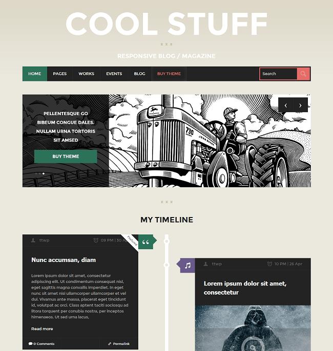 Cool Stuff - theme-wordpress blog