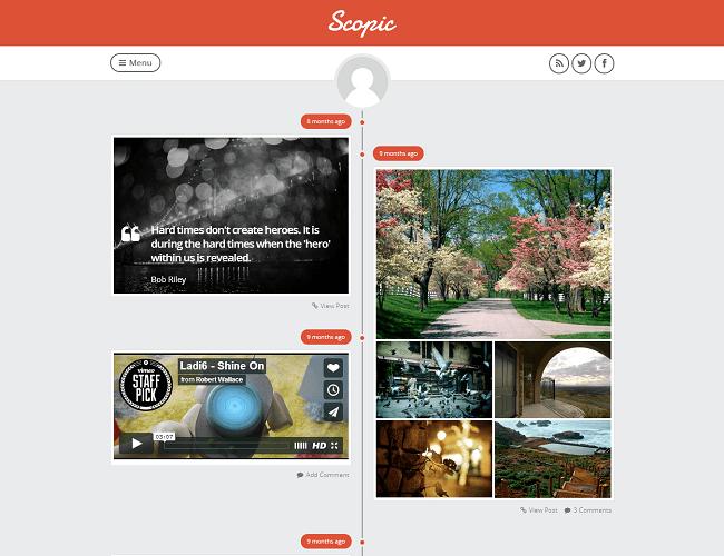 Scopic - tumblog theme wordpress