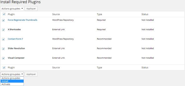Installer les plugins requis