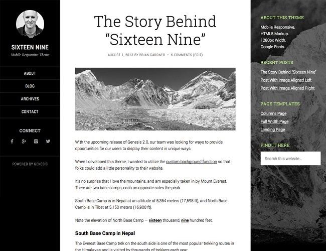 Sixteen Nine Pro - Theme WordPress Blog
