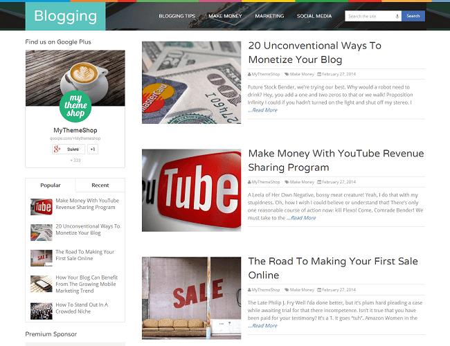 Spike - theme WordPress Blog