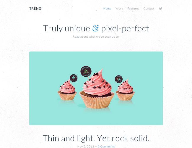 Trend est un thème WordPress pour mettre en place un blog personnel minimaliste