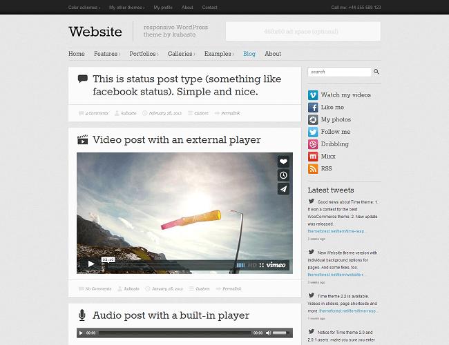 Website - thème WordPress blog