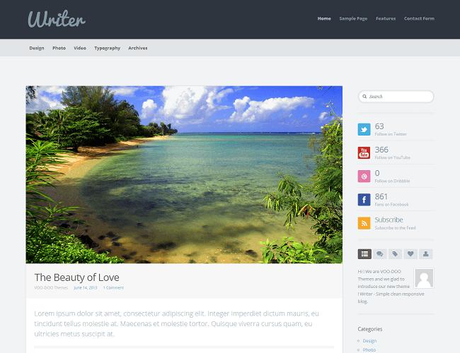 Writer un thème WordPress blog clean