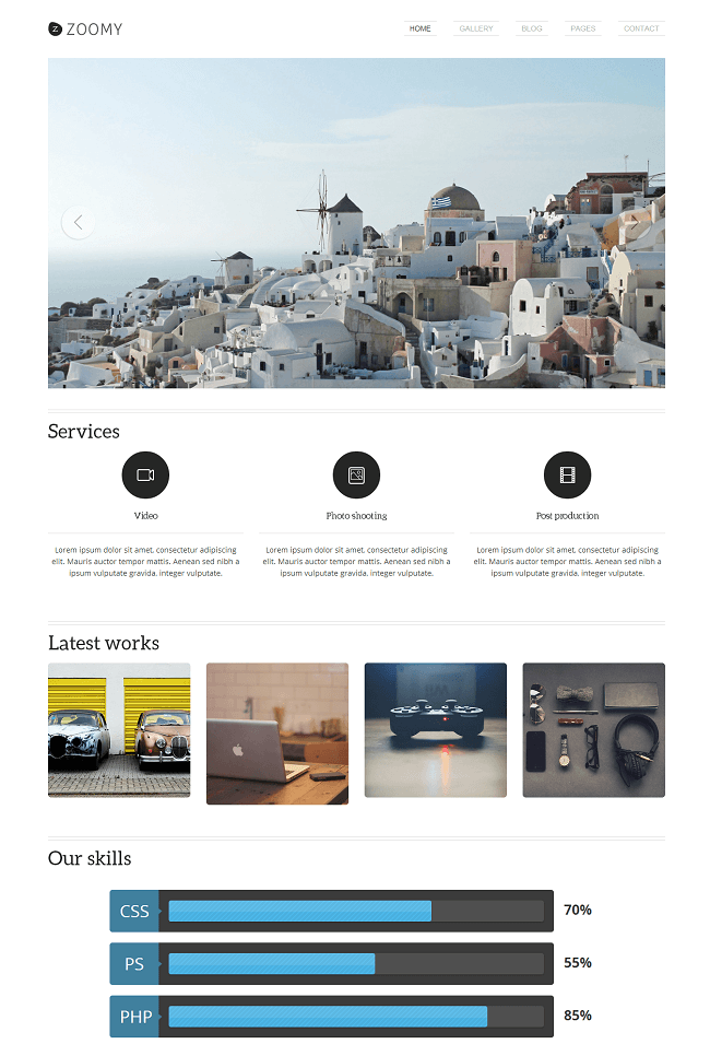 Zoomy - theme WordPress premium