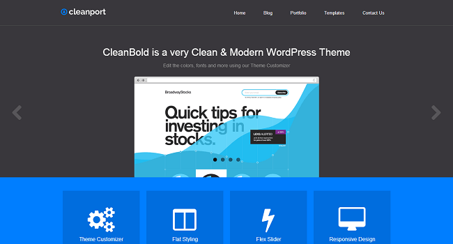 CleanPort - Thème WordPress Portfolio Flat