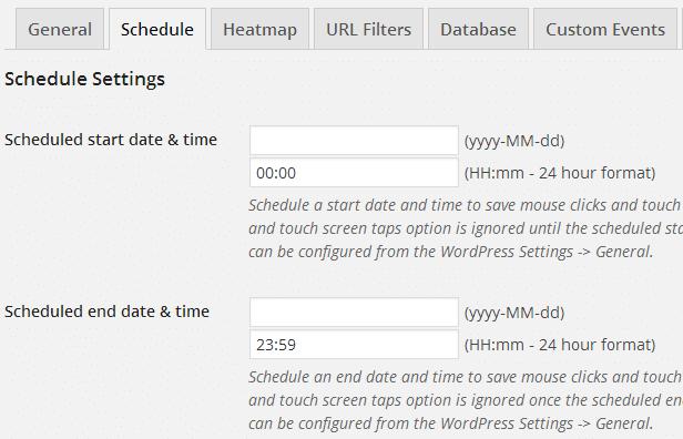 Hotspots - schedule