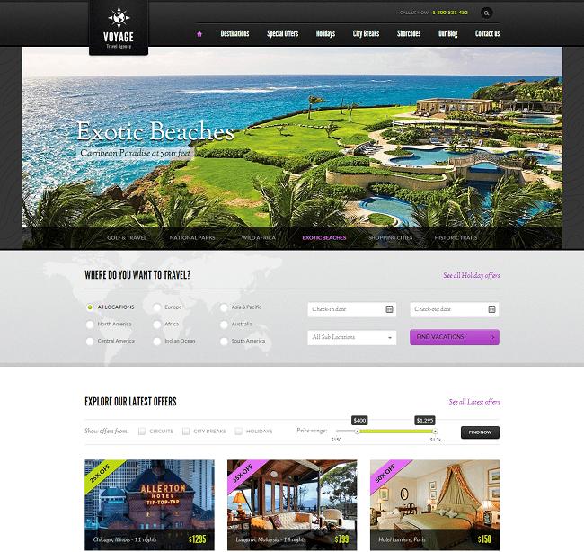 Voyage - theme WordPress de Réservation de Voyage en Ligne