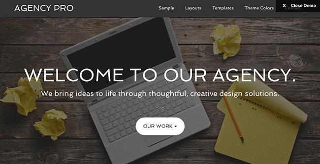 Agency Pro - Thème WordPress pour Agence et Créatifs