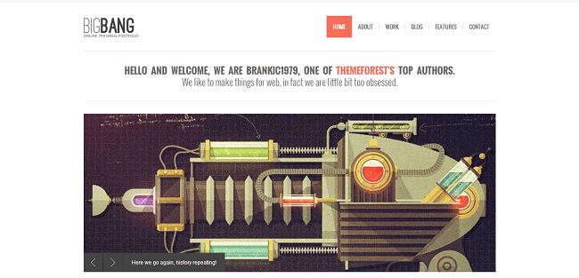 Bigbang - Thème WordPress Portfolio
