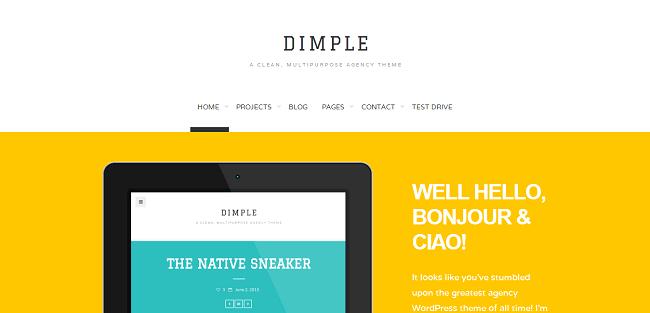 Dimple - Thème WordPress pour Créatifs