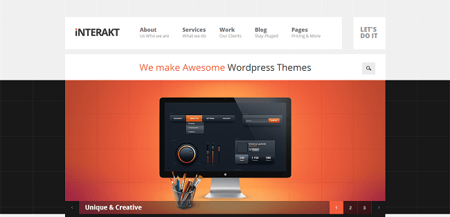 Interakt - theme wordpress portfolio