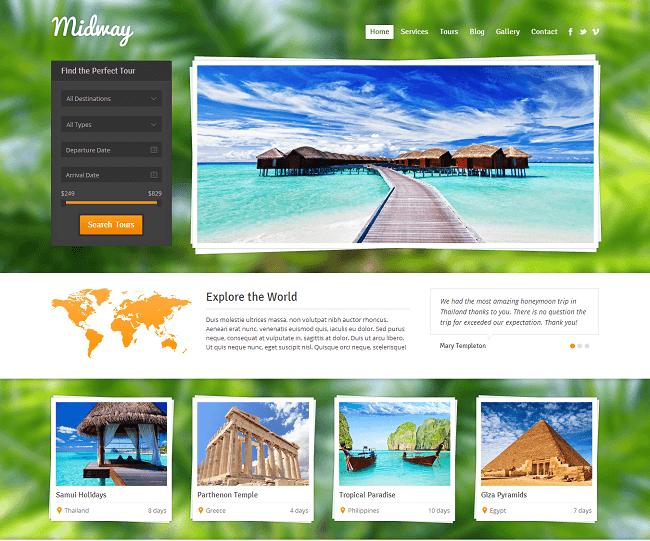 Midway - theme WordPress Voyage Reponsive