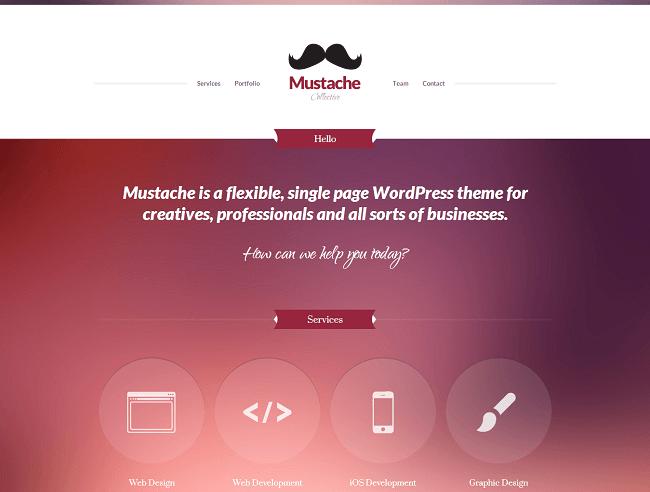 Mustache est un theme wordpress développé par CssIgniter